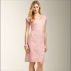 Talbots | Tweed Pink Coral Dress Size 4 NWT